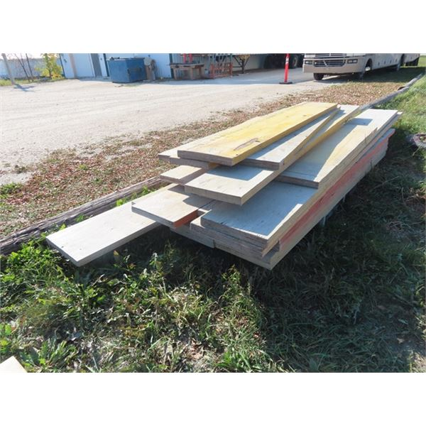 """Mixes Pressed Board 12"""" x 2"""", 10"""" x 2"""", 24"""" x 2"""" - Most are 8' - 15' Some Smaller & Some Longer -One"""