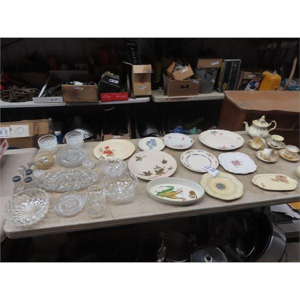 Crystal, Cut Glass, Royal Albert, 25th Anniversary Tray Plus