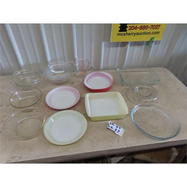 Pyrex Mixing Bowls, Baking Items Plus More