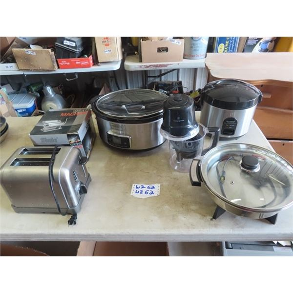 Kitchen Appliance, Pasta Maker, Cuisinart Toaster Slow Cooker, Rice Cooker, Elec Fry Pan