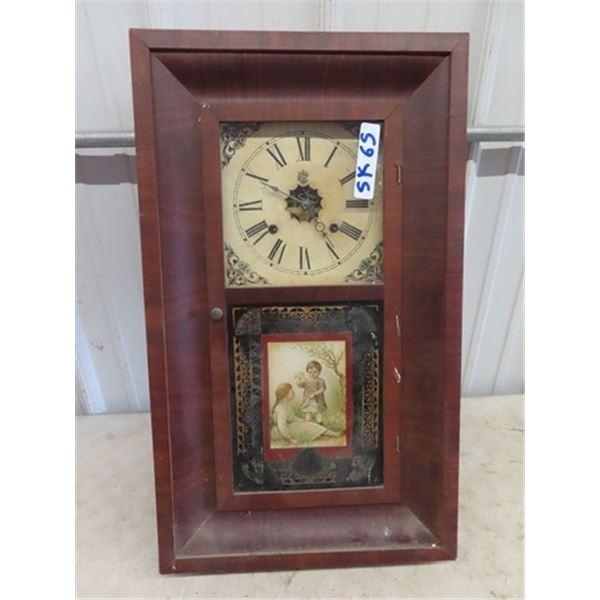 "Waterbury Regulator Clock 26"" x 15"""