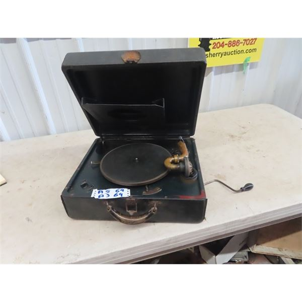 Victorola Portable Gramophone