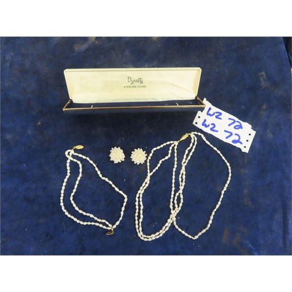 Jewellery , Fresh Water Pearls Earrings & Necklace