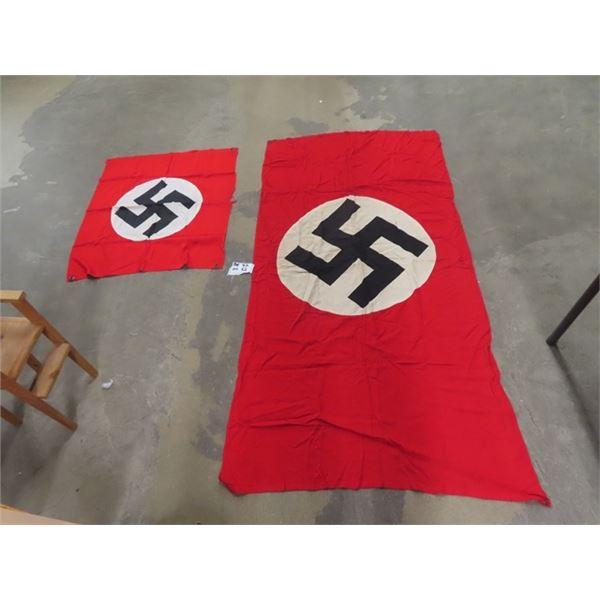 "2 German Flags 1) 72"" x 38"" & 1) 35"" x 30"""