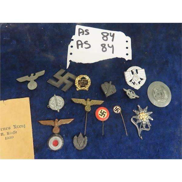 14 German Military Pins & Badges