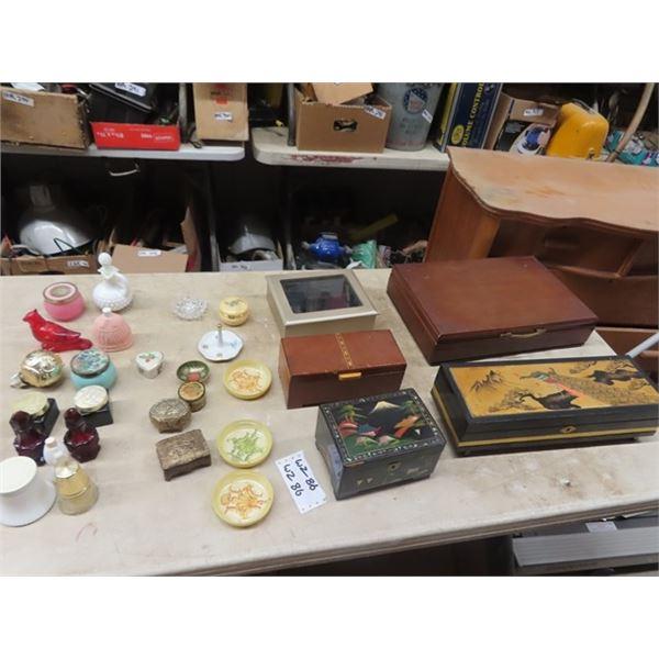 Jewellery Boxes, Trinket Boxes, & Avon