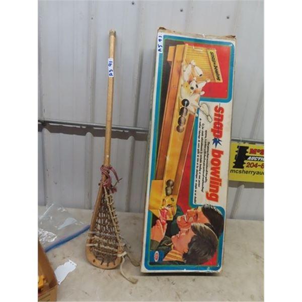 Snap Bowling Game, & Field Hockey Stick