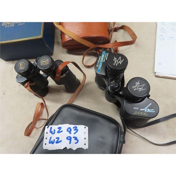 Binoculars 1) Tasco 10 x 50 & 1) Fisher Dietz 7 x 35