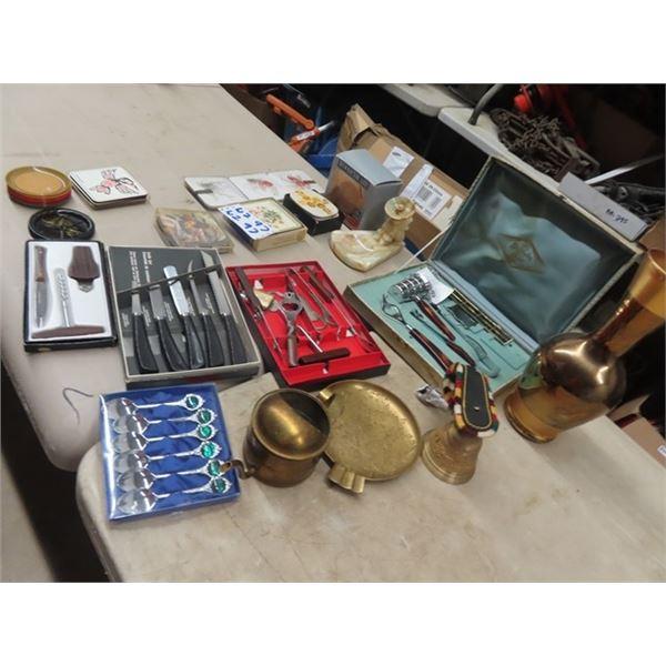 Knives, Bar Set, Brass, Coaster, Alabaster, Plus More!