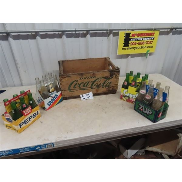 Coke Crate & 4 Carriers, & 24 Bottles