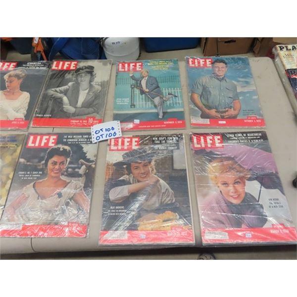 13 Magazines - Life, Post, 50's 40's & 60's
