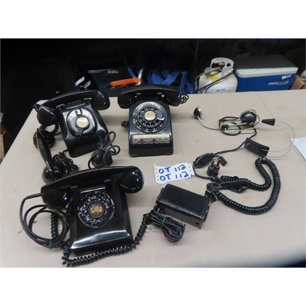 Rotary Phones & Operators Head Set