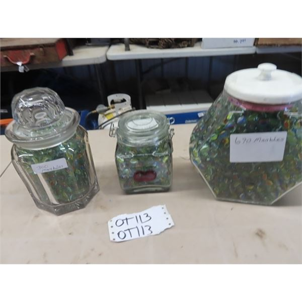 3 Jars of Marbles