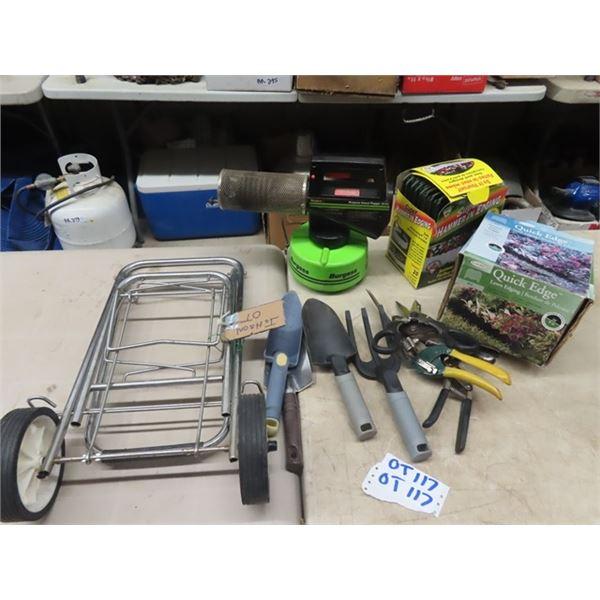 Yard Foggers, Edging, Flower Bed Tools, Folding Cart