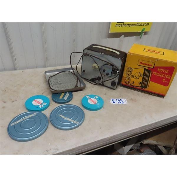 Brownie 8 MM Projector & Reels