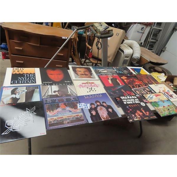 Approx 20 Rock & Roll Records & Some Pop - Trooper, Blondie, Super Tramp, & Burton Cummings