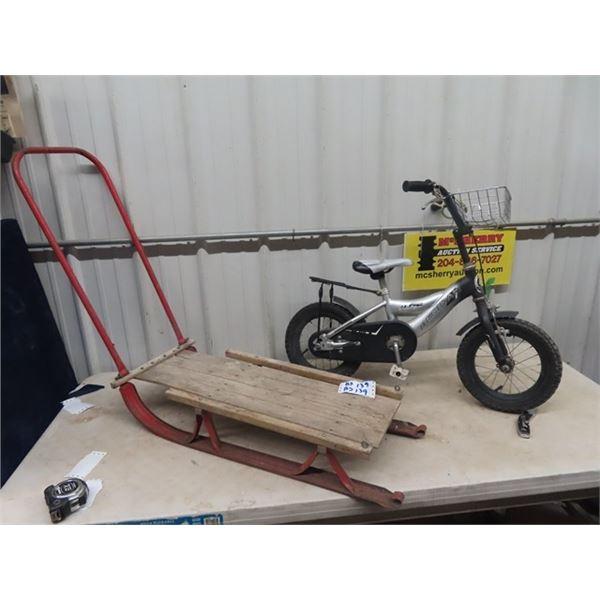 Child Pedal Bike & Sleigh