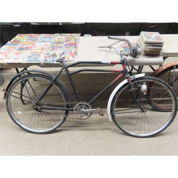 Vintage Glider Pedal Bike w Generator & Light - No Seat