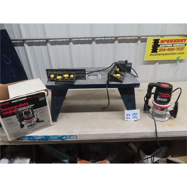 Craftsman 800 Router & Router Table