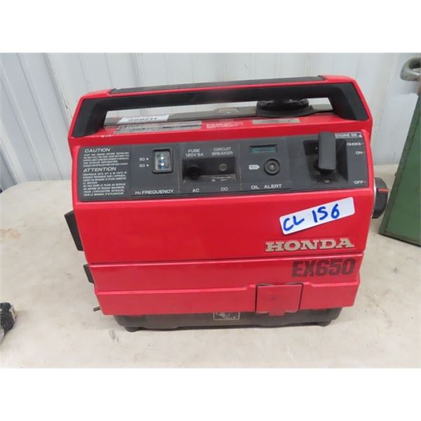 Honda EX650 Generator - Took it in for Service Before bringing it into Auction- Working