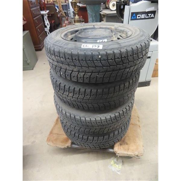 4 Winter Tires & Rims - Off 2005 Toyota Corola, 185/ 65 R 15