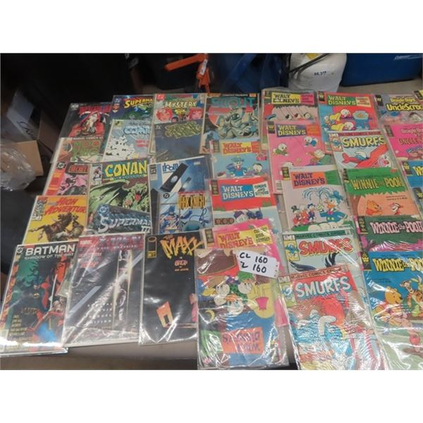 Approx 100 Comics -Various - DC, Marvel- 15 Cents & Up