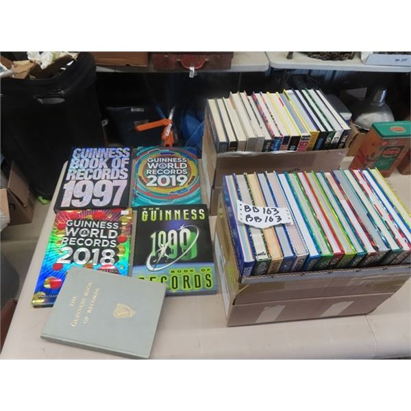 Approx 51 Guiness Books 1968-1970 to 2020
