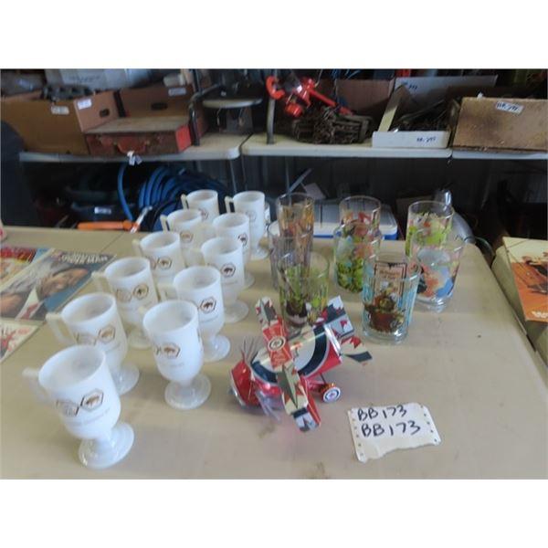 Centennial Cups, McDonalds Glasses, & Can Plane