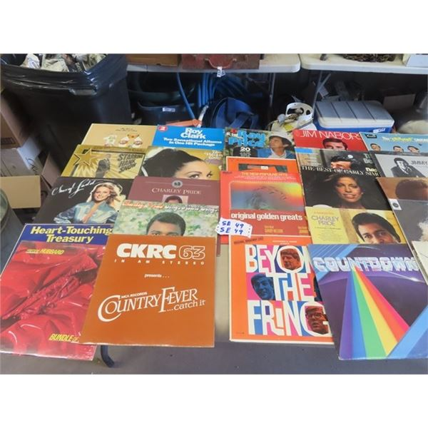 Approx 49 Records- Various Mainly Country
