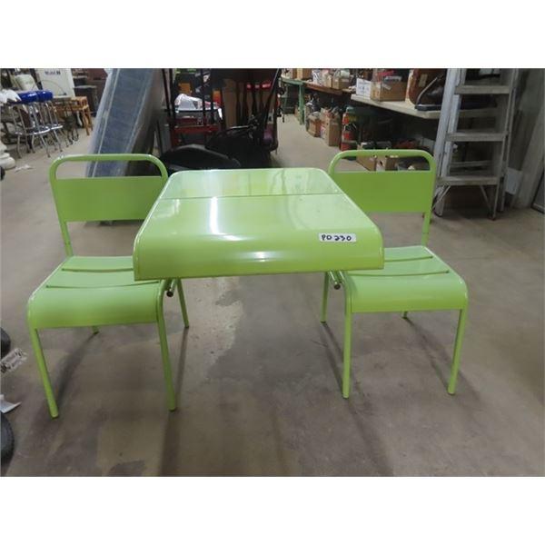 Metal Folding Yard Bench/ Table