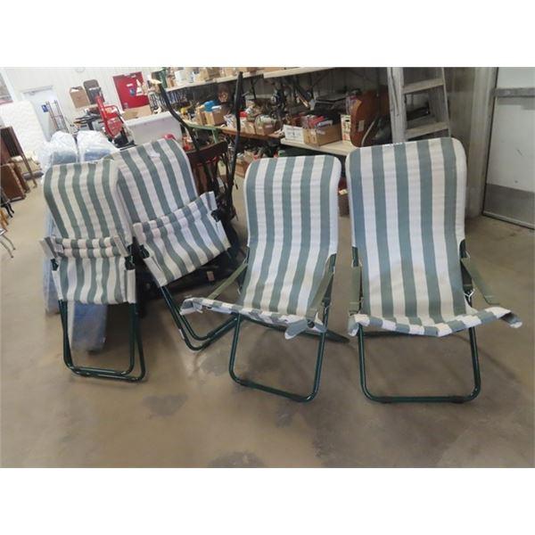 4 Folding Lawn Chairs