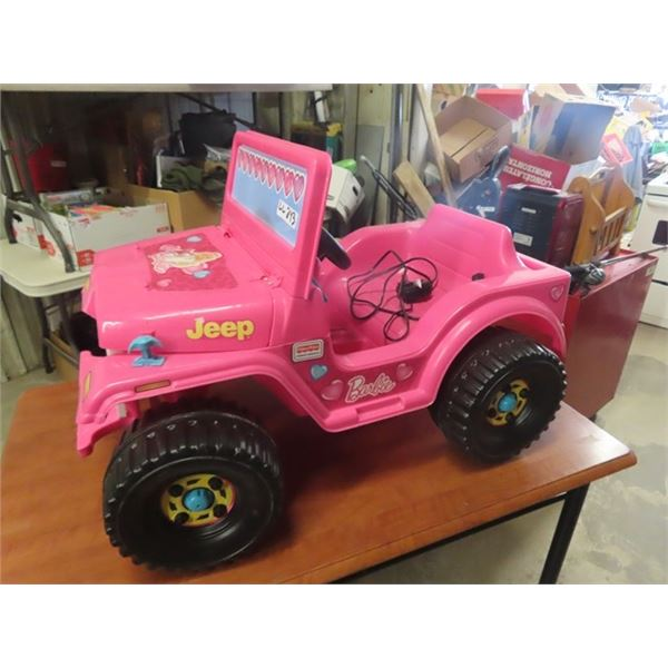 Barbie Ride On Battery Jeep w Charger
