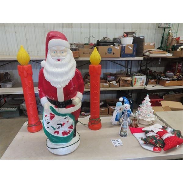 Light up Christmas Outdoor Ornaments & Ceramic Tree Plus