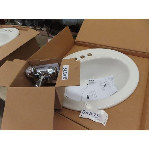 New Bathroom Sink Kohler & Faucet