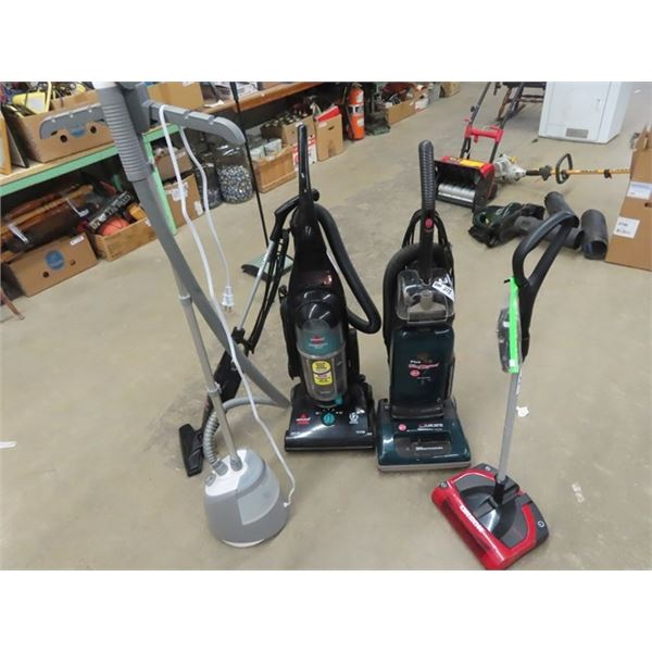 4 Upright Vacuum & Carpet Sweeps 1 Cordless plus Steam Cleaner