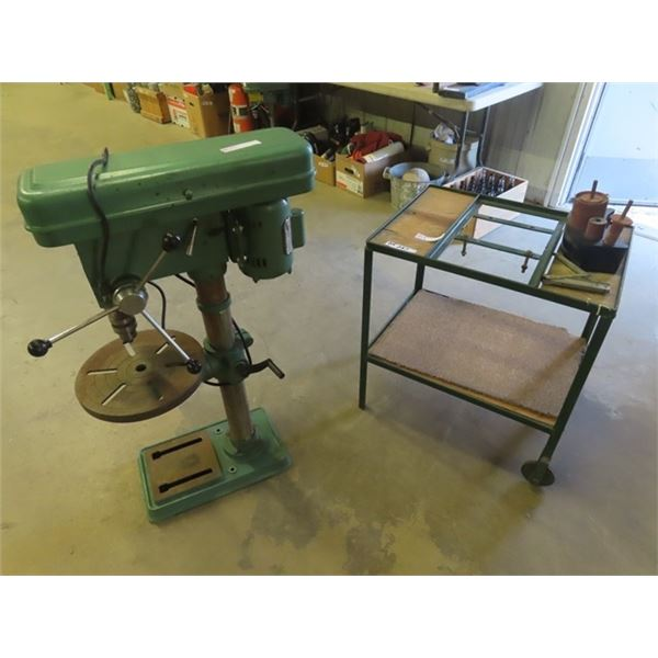 Power Fist 1 HP Drill Press w Good Homemade Stand
