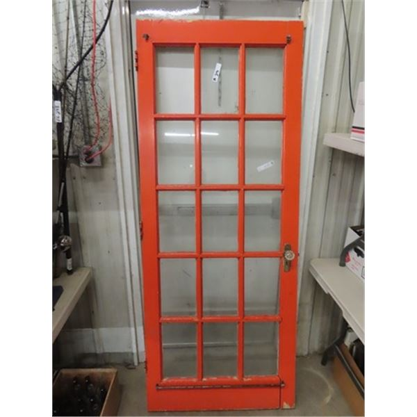 """French Doors 15 Panes Glass - 1 Missing 80"""" x 32"""""""