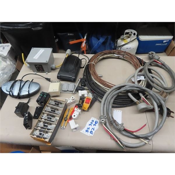 """Electrical Switches, Car Heater, Radio Tester 47"""" 3 RW90 Wire - Approx 2 Pcs, Ground Wire 29' , Stov"""