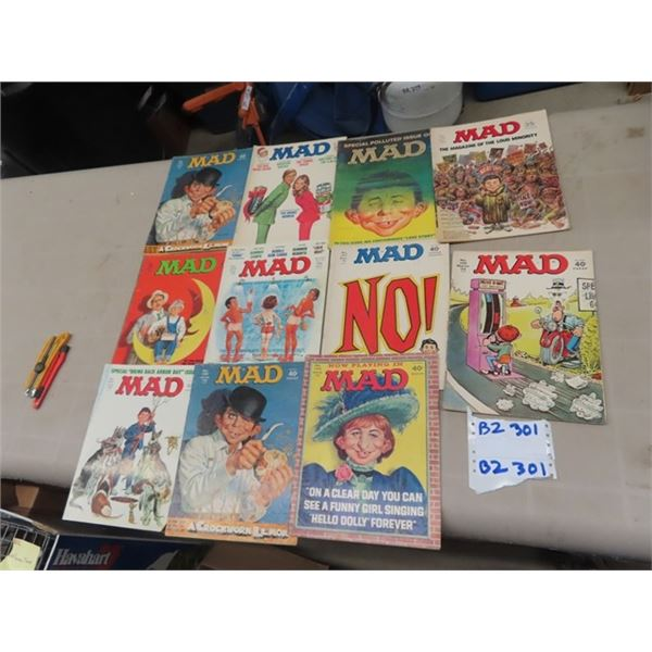 Approx 11 MAD Magazines 1970's