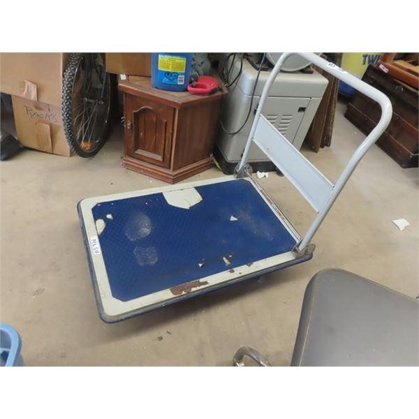"Shop Platform Cart 24"" x 36"" w Folding Handle"