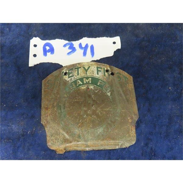 """William Penn , North Star Metal Safety Tag 4"""" x 3 3/4"""""""