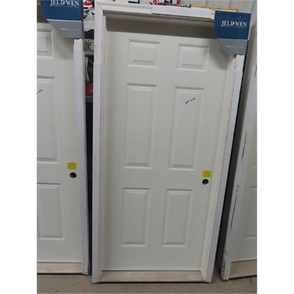 "New Ext Door & Jam 36"" W - Right Hand Swing - 2"" x 4"" Framed"
