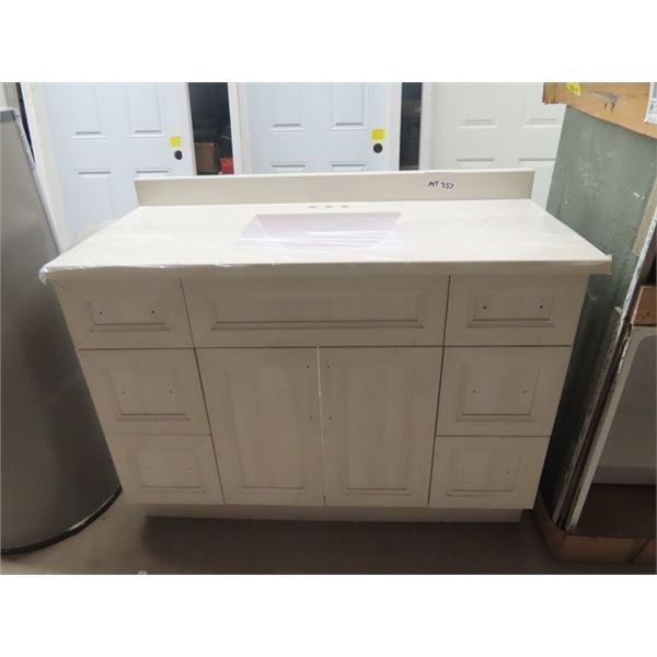 """New Bathroom Vanity & Sink 48""""W x 34.75"""" H X 21.5H"""