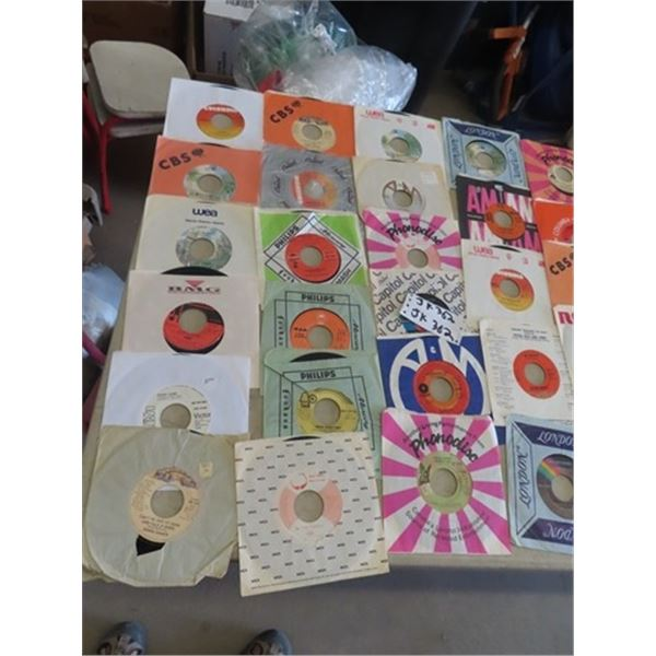 Approx 50 - 70's Pop & Rock 45 Records