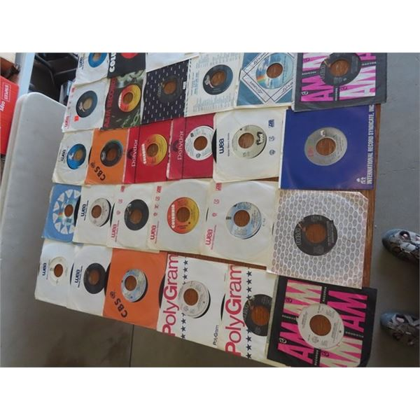 Approx 50 80's Country 45 Records