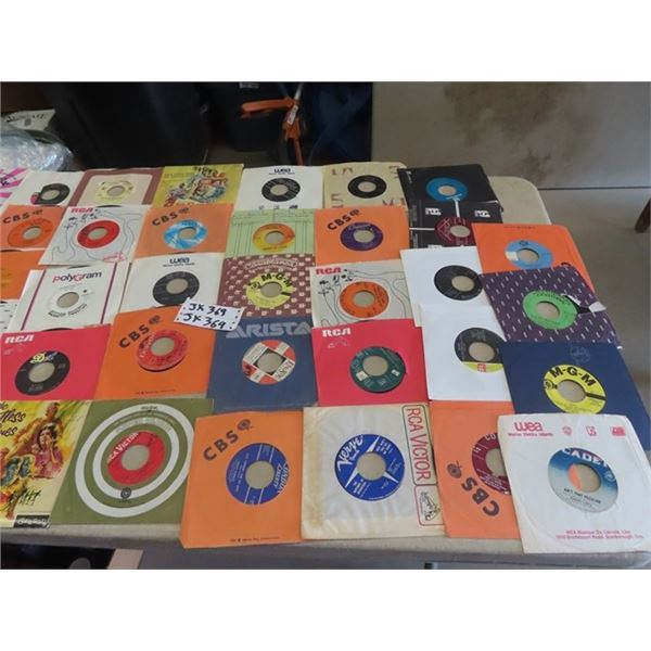 Approx 50 - 60's Rock & Pop 45 Records