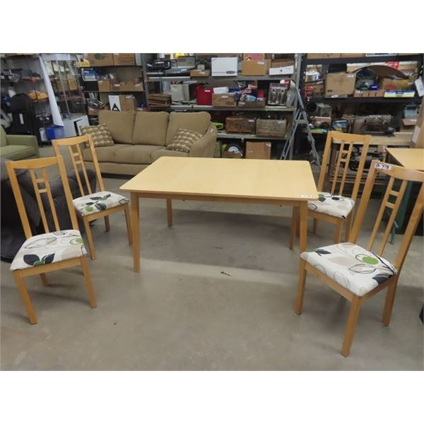 """Wooden Kitchen Table & 4 Chairs 36"""" x 55"""""""