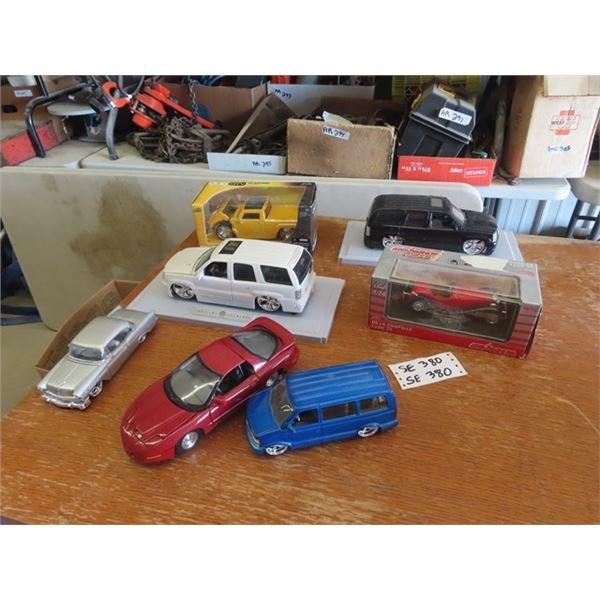 7 Die Cast Toy Cars