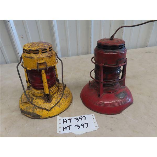 (HT) 2 Dietz Railway Lanterns