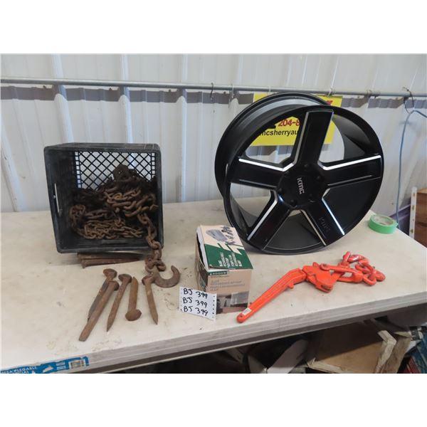 Chain & Hooks, Railway Spikes, Load Binders New KMC Rim